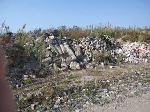 matériaux de rebut dans la zone ostréicole de la Guérinière 1