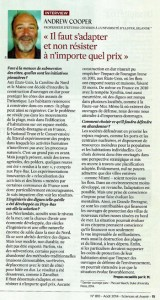 s'adapter et non résister sc et avenir août 2014