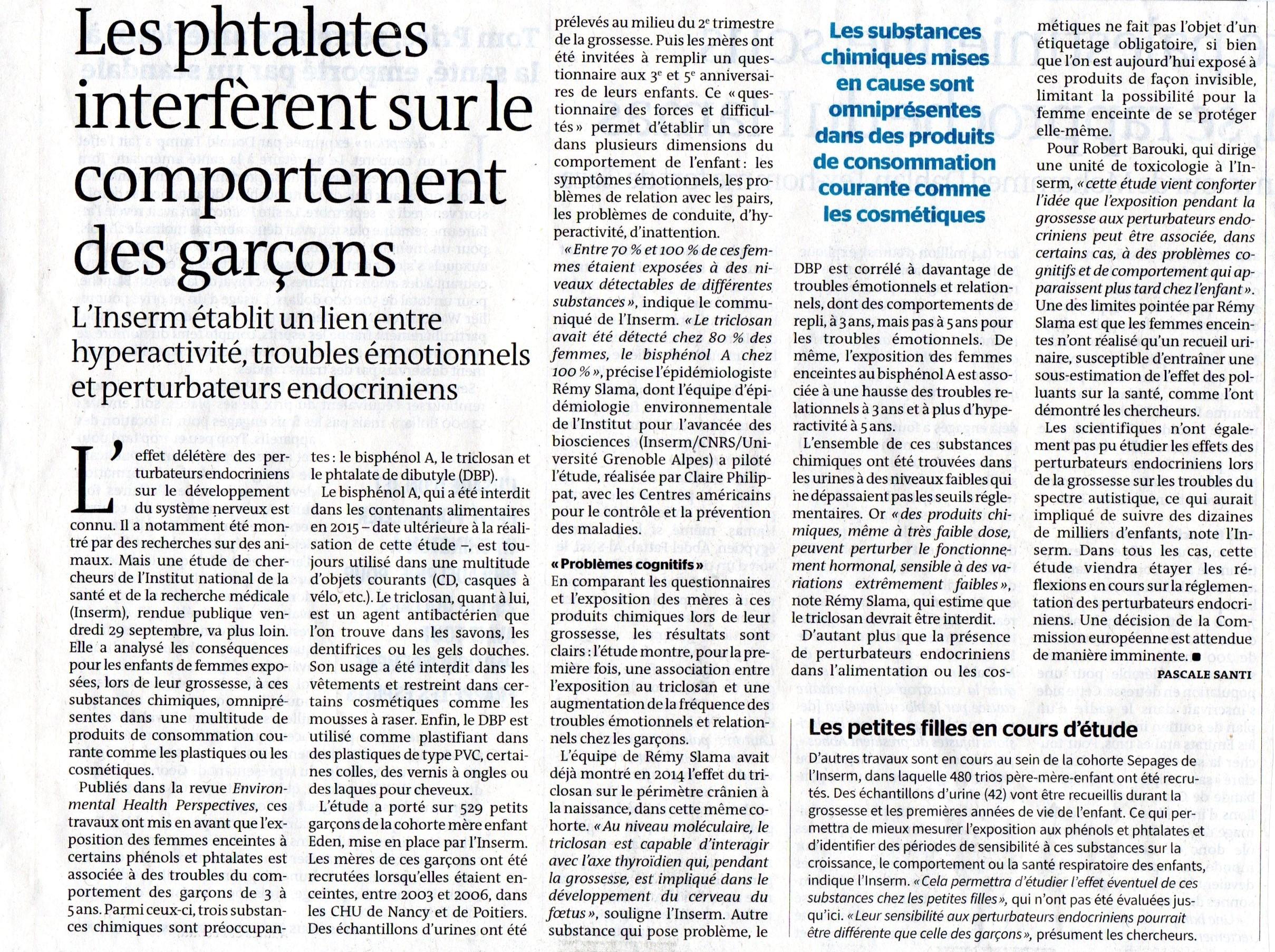 Etude INSERM sur phtalates - Le Mode, oct 2017027