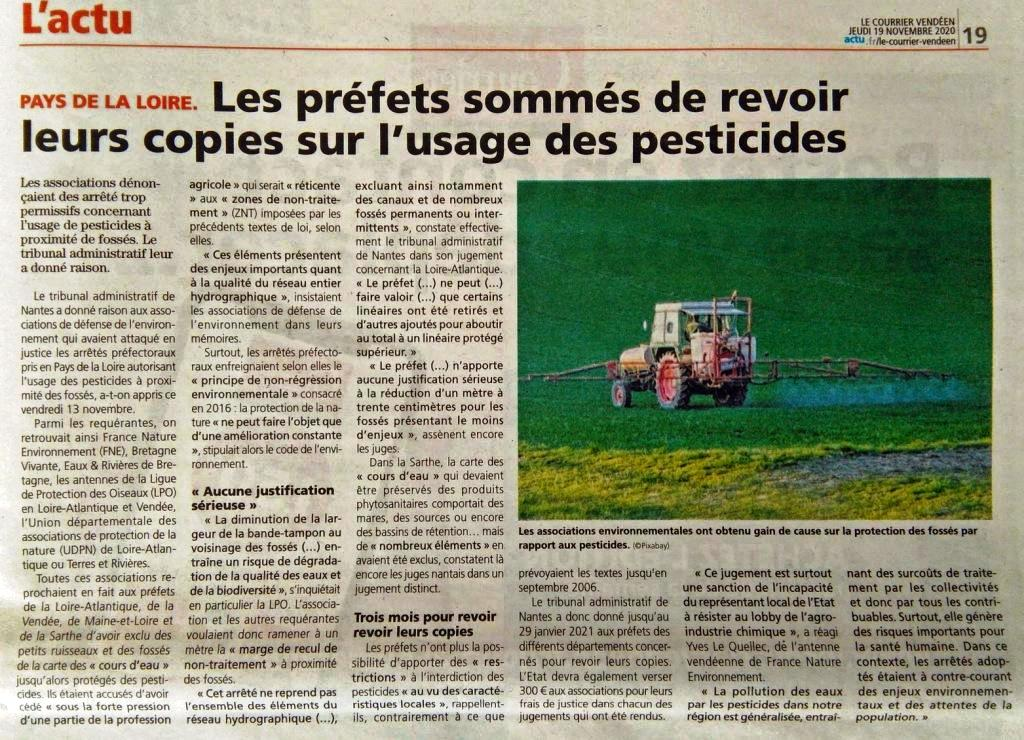 Courrier Vendéen 19 nov 2020